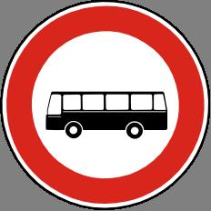 Zákaz vjezdu autobusù