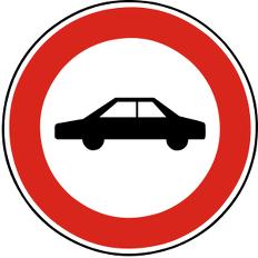 Zákaz vjezdu osobních automobilù