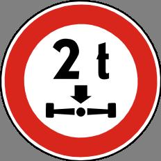 Zákaz vjezdu vozidel pøesahující hmotnost na nápravu