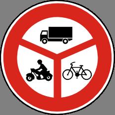 Zákaz vjezdu vyznaèených vozidel
